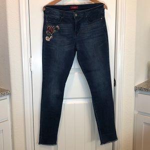 Guess jeans velvet floral 31